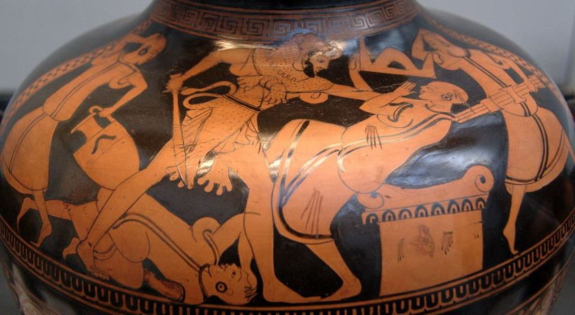 vase painting - Heracles and Busiris