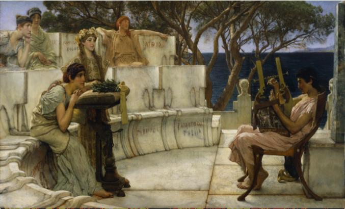 Alma-Tadema, Sappho Listening to Alcaeus