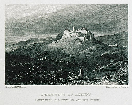 Athens' Pnyx and Acropolis in 1829
