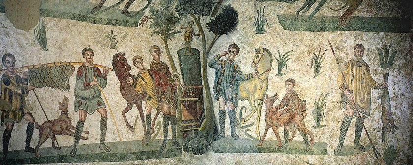 Little Hunt Mosaic, Villa Romana del Casale
