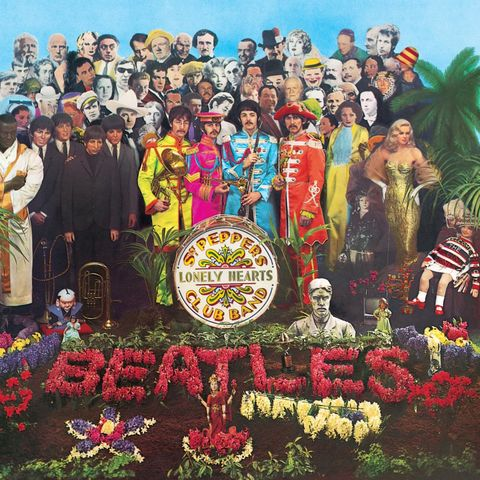 Sgt Pepper's Lonely Hearts Club Band, artwork by Peter Blake and Jann Haworth, 1967