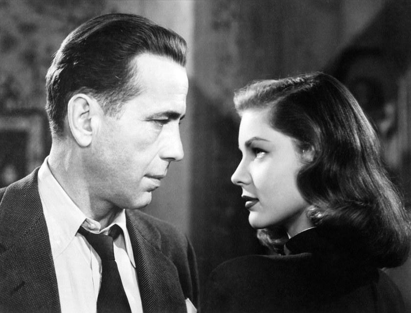 Humphrey Bogart (as Philip Marlowe) and Lauren Bacall (as Vivian Sternwood Rutledge) in The Big Sleep, 1946.