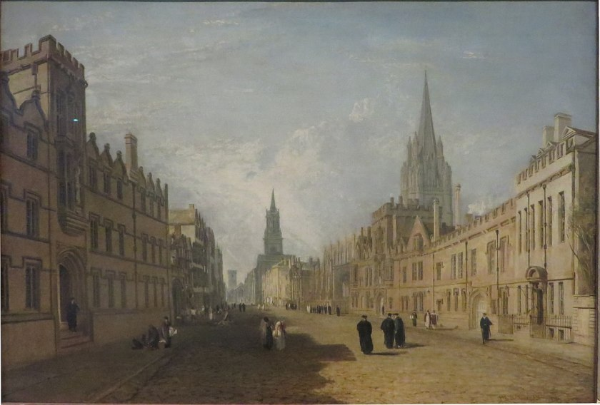 View of Oxford's High Street in 1810 by Turner