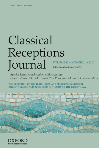 Cover image of Classical Receptions Journal special issue