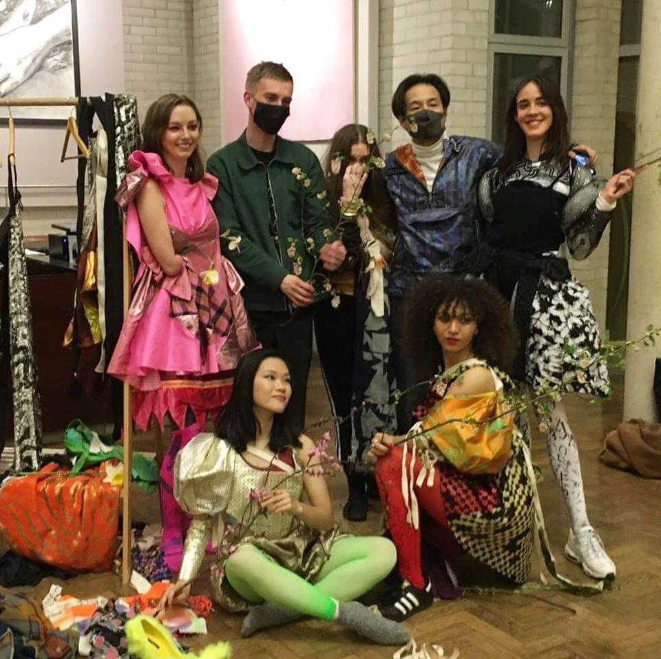 The Bower of Bliss musicians and dancers: (back row, l to r) Ashley Young, Maxwell Sterling, Linder, Kenichi Iwasa, Kirstin Halliday; (front, l to r) Lilian Wang, Lauren Fitzpatrick
